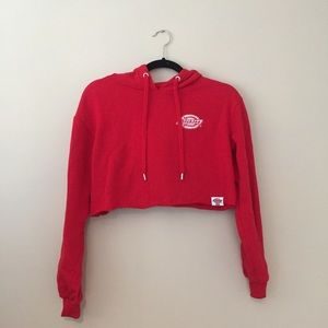 Dickies red cropped hoodie size xs